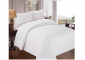 hotel bed set in white colour rigid and firm tissue