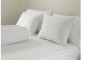 Hotel double linens in white rigid and firm tissue