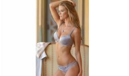 Luxury Grey Bra And Panties Set